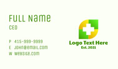 Medical Leaf Cross Business Card
