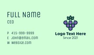 Organic Grapes Fruit  Business Card