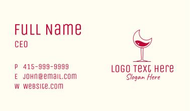 Moon Wine Glasss Business Card