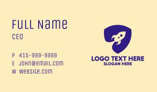Blue Rocket Shield  Business Card