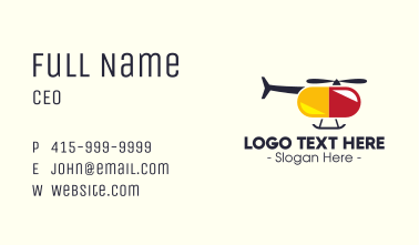 Helicopter Pill  Business Card