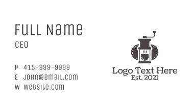 Manual Coffee Grinder Business Card