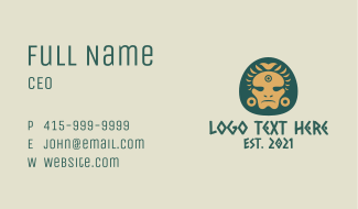 Aztec Chieftain Business Card