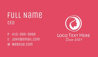 Woman Beauty Cosmetics Business Card