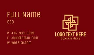 Oriental Tile Pattern Business Card