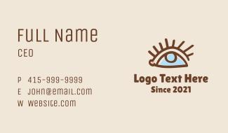 Eye Doodle Line Art Business Card