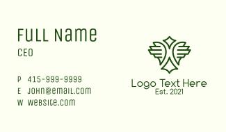Green Air Force Emblem  Business Card