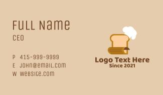 Bread Baker Recipe  Business Card
