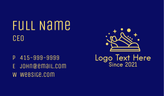 Cosmic Rubber Shoes Business Card