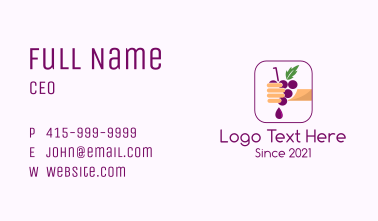 Hand Squeezed Grape Business Card
