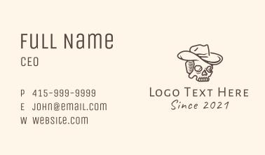 Cowboy Skull Monoline Business Card
