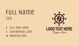 Coffee Bean Wheel  Business Card