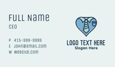 Blue Heart Corporate Tie Business Card