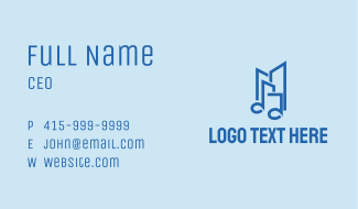 Music Note Building  Business Card