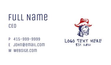 Cowboy Skull Head Business Card