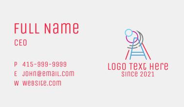 Telescope Line Art Business Card