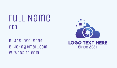Digital Cloud Camera  Business Card