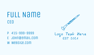 Clarinet Musical Instrument Business Card