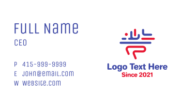 Thinking Brain Lines Business Card