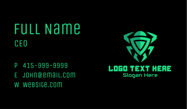 Green Gaming Spider  Business Card