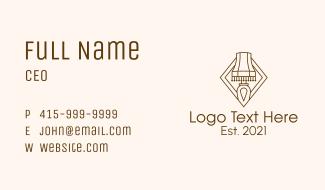 Brown Vintage Lamp Business Card