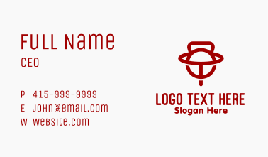 Kettlebell World Letter T Business Card