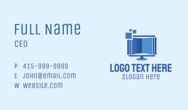 Digital Book Monitor  Business Card