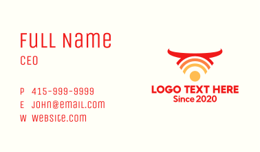 Wild Bull Wifi Business Card