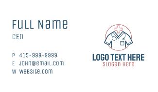 Medical Uniform Attire Business Card