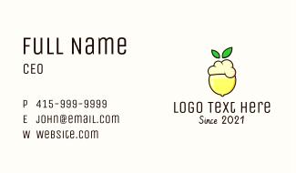 Lemon Fruit Shake Business Card