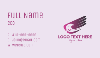 Purple Eagle Wing Business Card