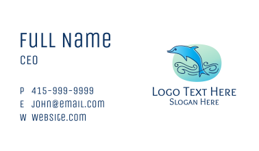 Jumping Blue Dolphin Business Card