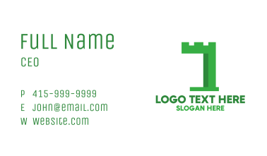 Green Castle Number 1 Business Card