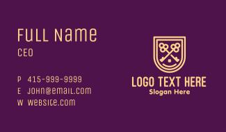 Real Estate Mansion Badge Business Card