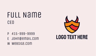 Gaming Shield Horns  Business Card