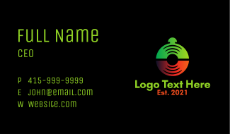 Vinyl Record Bell Business Card
