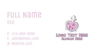 Female Symbol Heart  Business Card