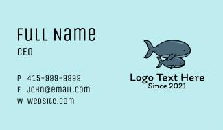 Humpback Whale Mascot Business Card
