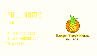 Cute Pineapple  Patch Business Card