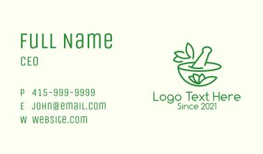 Green Alternative Medicine Business Card