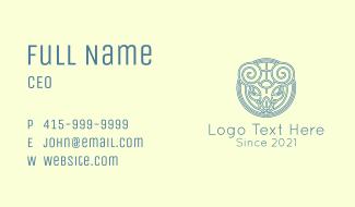 Minimalist Stag Celtic Business Card