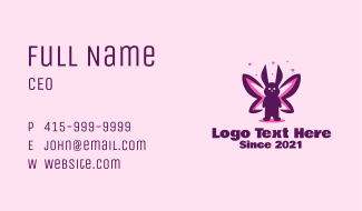 Rabbit Butterfly Business Card