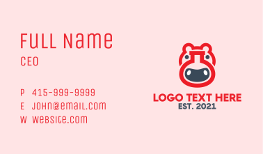 Red Hippo Lab Business Card