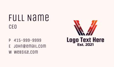 Letter V Metal Fabrication Business Card