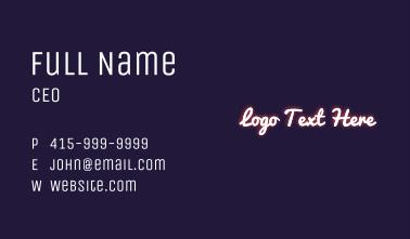 Diamond Shape Glowing Wordmark Business Card