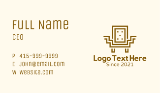 Geometric Square Chair Business Card