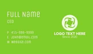 Green Medical Cross Business Card