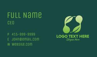 Natural Leaf Cross Business Card