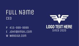 American Military Badge Business Card