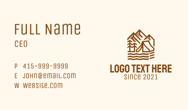 Outdoor Mountain Camping  Business Card